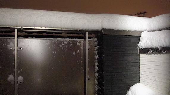積雪すでに15cm