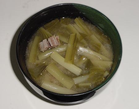 ウルイの味噌汁