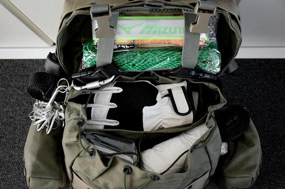 車載の非常持出袋を整理