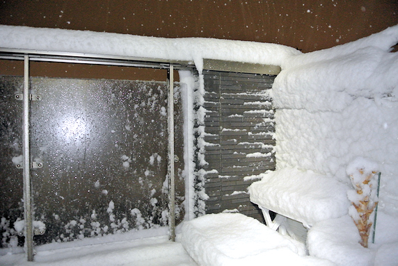 暴風雪なう