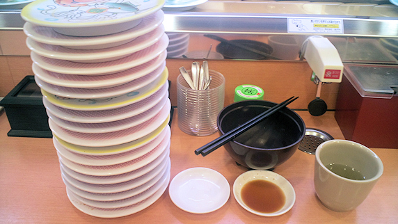 久々に回転寿司