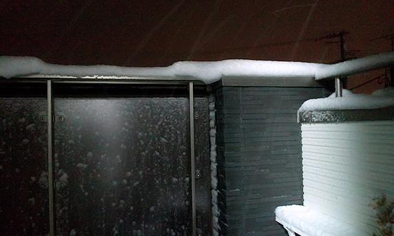 不意打ち積雪10cm
