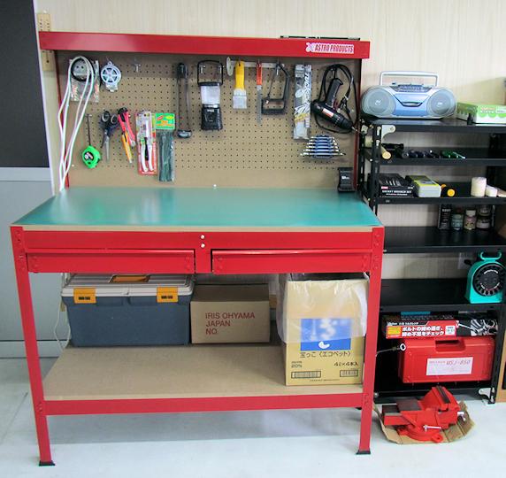 ガレージ作業台設置
