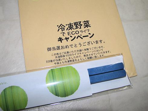 紙製のECO箸が当選