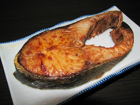 新巻鮭を食す