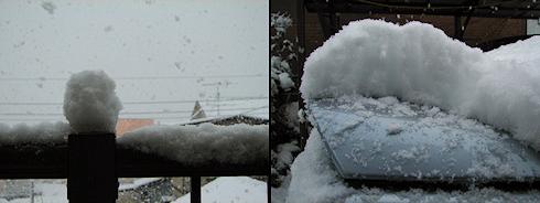 吹雪く北国