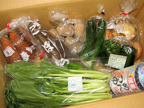 当選のヤマキの有機野菜セット到着