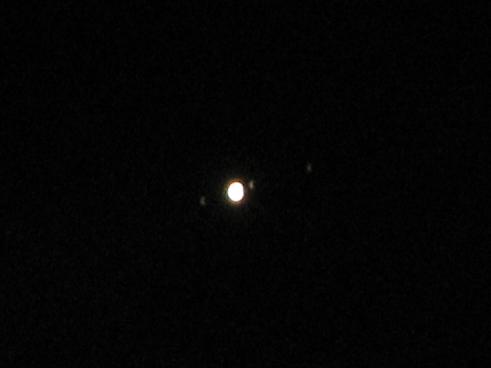 大接近する木星と衛星を撮影